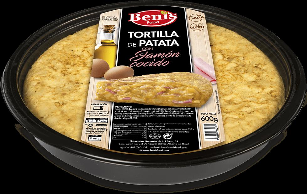 Tortilla met gekookte ham