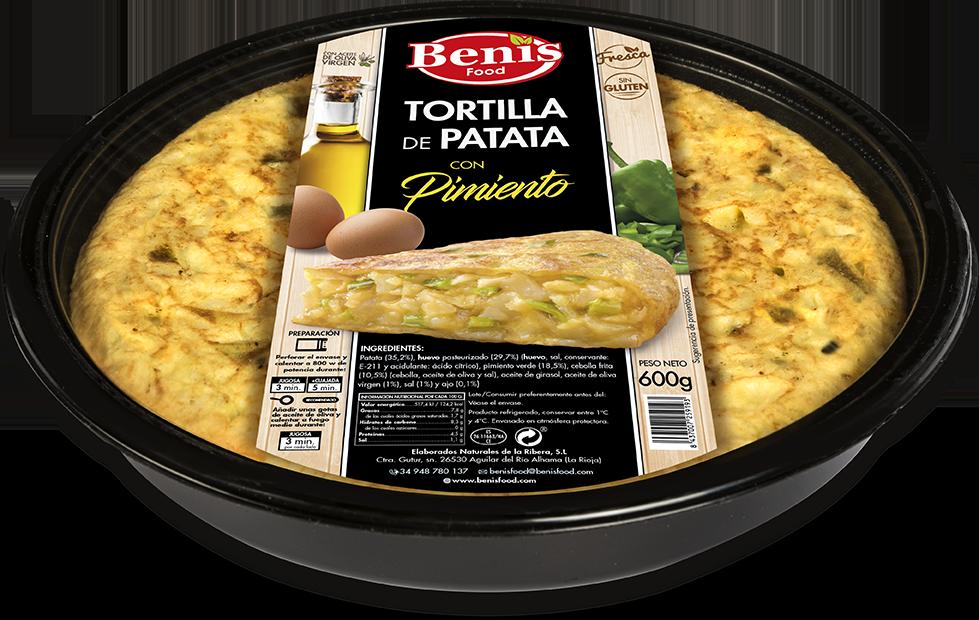 Tortilla met peper